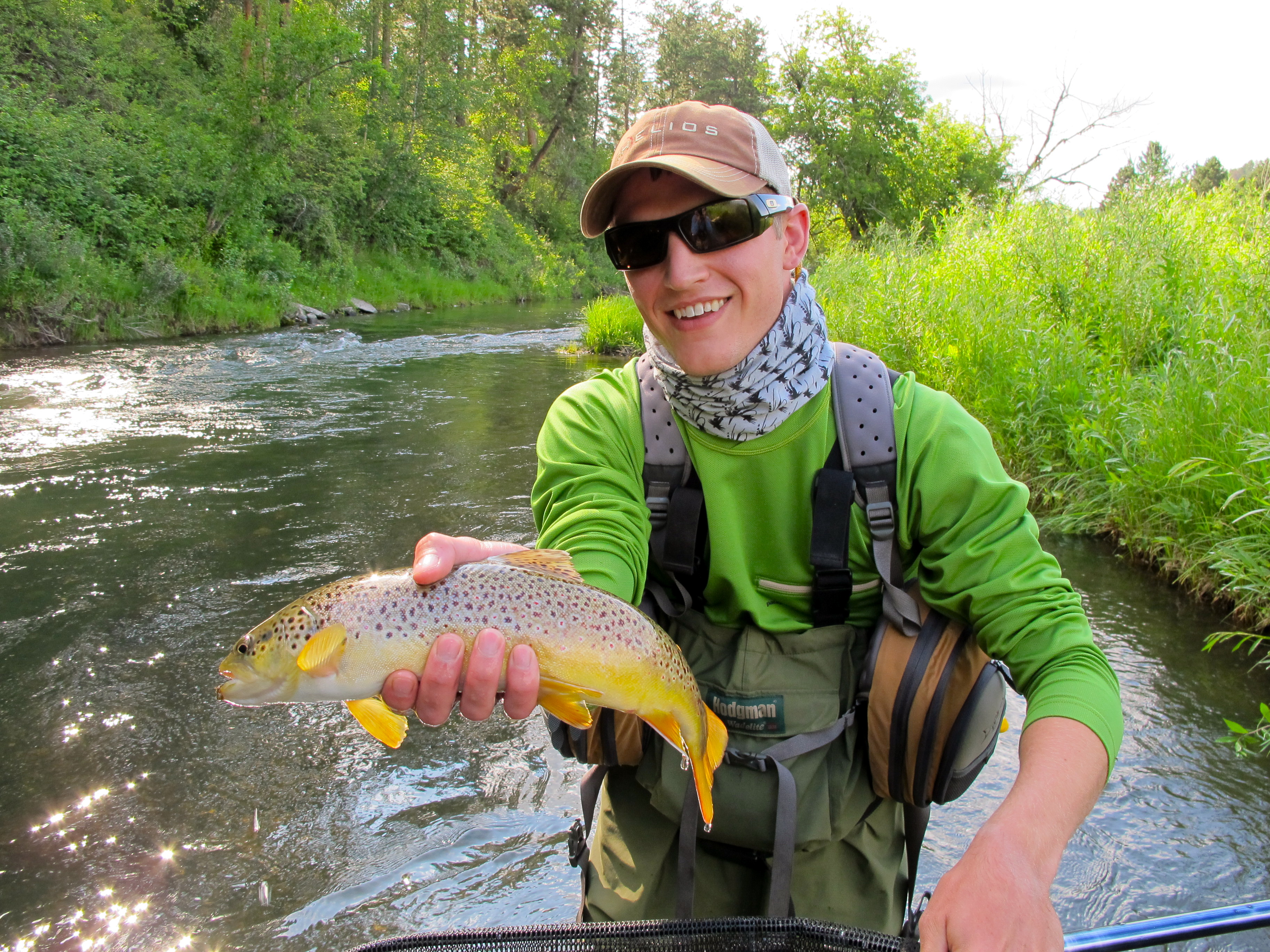 Happy client black hills guided trip dakota angler for Fly fishing south dakota