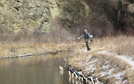 Black Hills winter fishing conditions are decent, and should improve with the warmer weather.