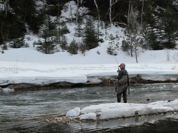 Early season fly fishing Spearfish Creek in Spearfish Canyon