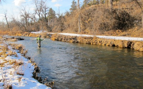 rapid creek trout fishing winter