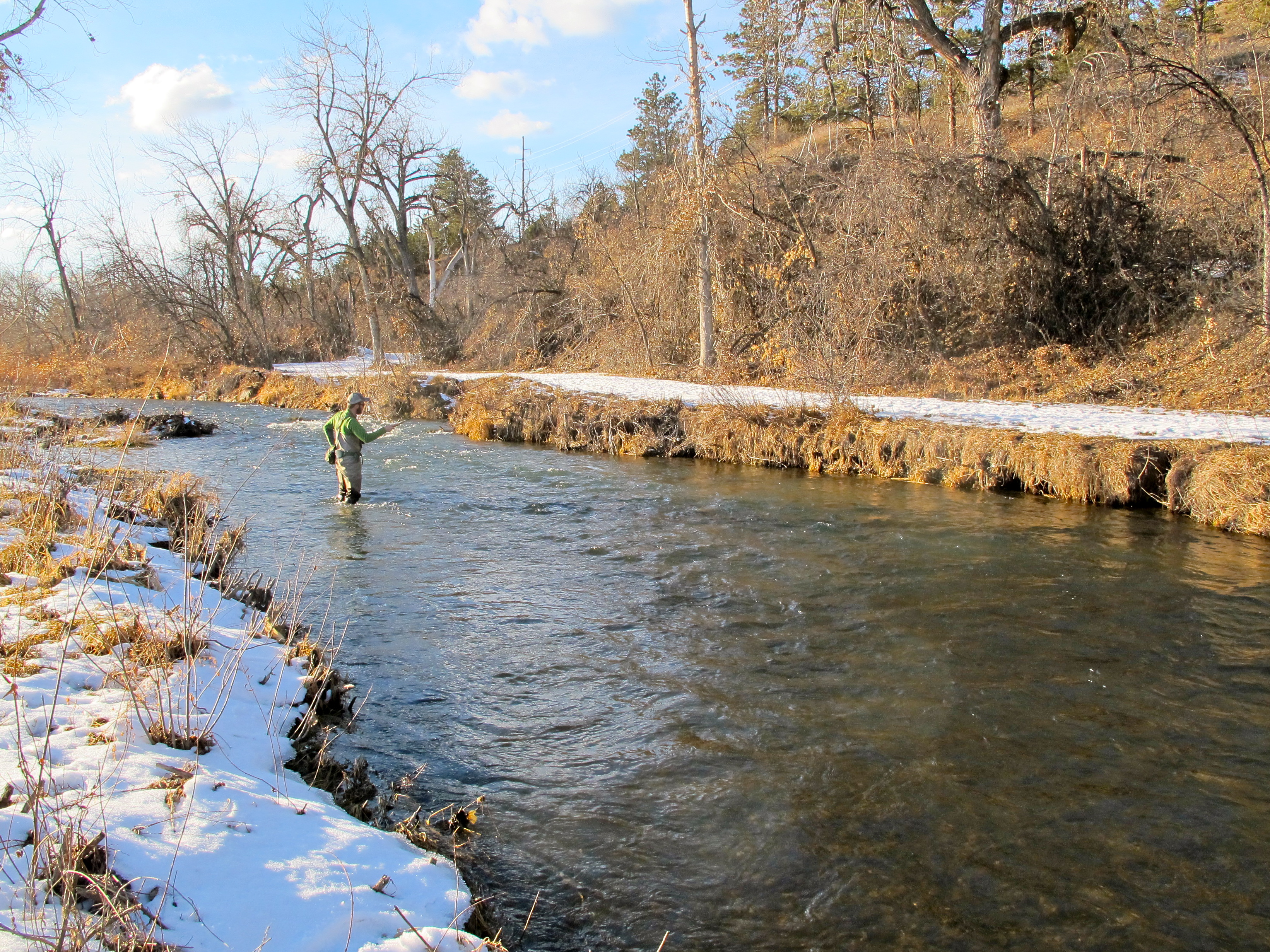 Black hills fishing report january 9th 2014 dakota for Fly fishing south dakota
