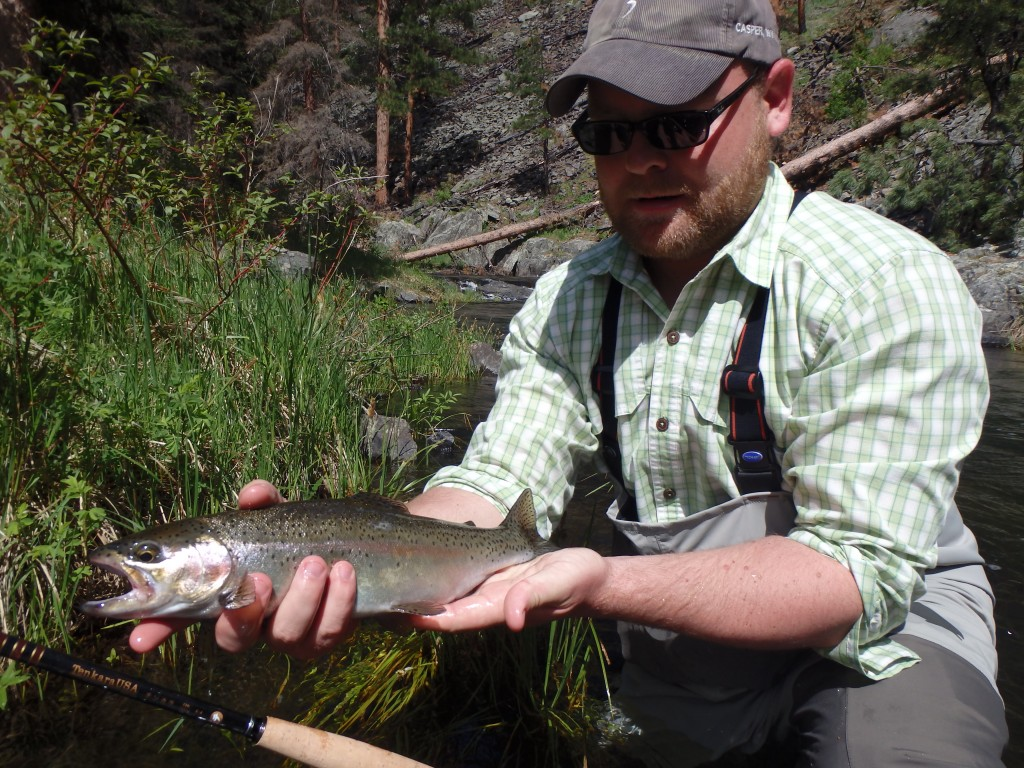 Tim with a great rainbow.