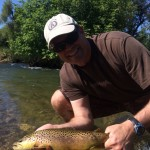 Marc with a nice Spearfish Brown!