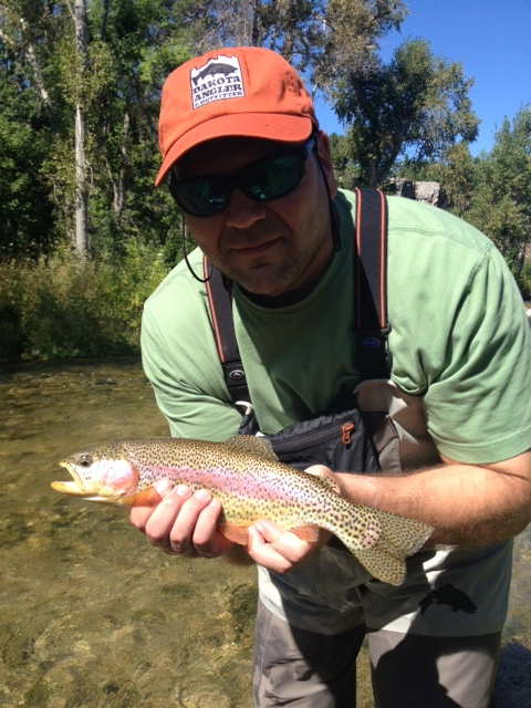 Nice Spearfish Creek Rainbow, guided by Shaun LeZotte!
