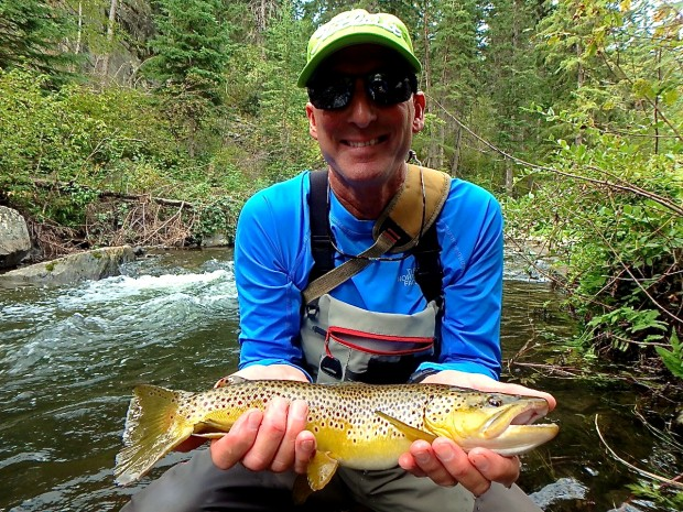 Hefty Black Hills Brown caught by Tim!