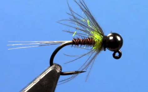 Tungsten Jig Yellow Spot Nymph fly tying video