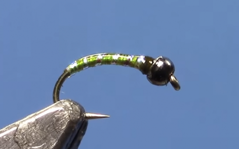 tungsten green weenie midge fly pattern video fly tying