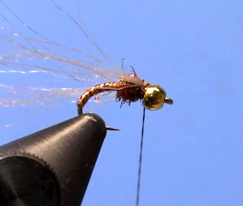 Iridescent Root Beer Midge Trout Fly Tying Video
