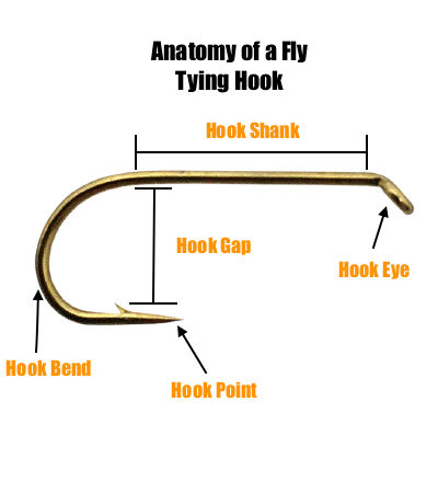 anatomy of a fly tying hook