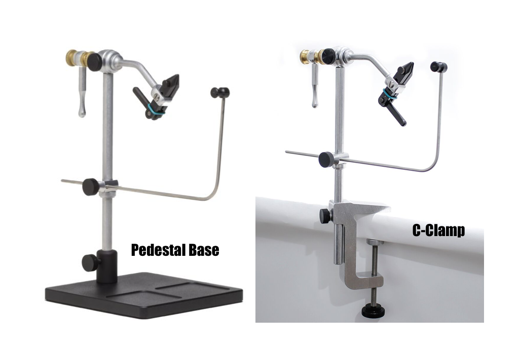 pedestal vs c clamp fly tying